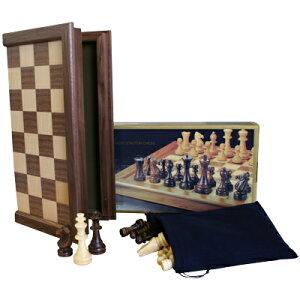 ※送料無料!※納得のクオリティ。スタンダードな木製チェスセットトーナメント プロ・チェス...