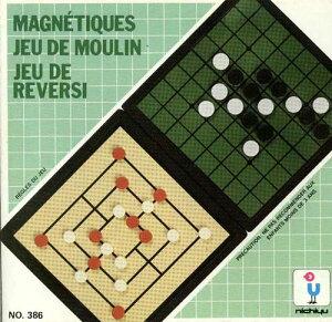 【MAGNETIC NINE MEN'S MORRIS REVERSI】マグネットゲーム ナインメンズモリス・リバーシィ