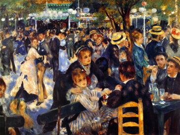 【踊る光、爽やかな影】絵画 ルノワール 「ムーラン・ド・ラ・ギャレットの舞踏場」