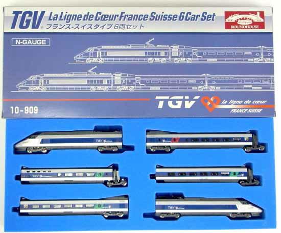 鉄道模型, 客車 N(KATO) 10-909 TGV - 6A