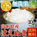 無洗米 30年産 特別栽培米 山形県産はえぬき10kg(5k...