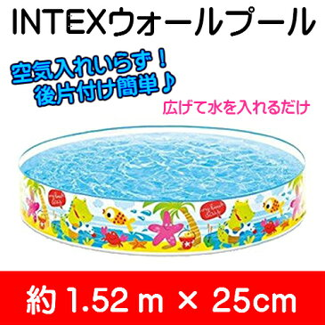 INTEX(インテックス)56451NP ウォールプール(壁プール) 152cmタイプ スナップセットプール152cm×25cm::02P03Dec41