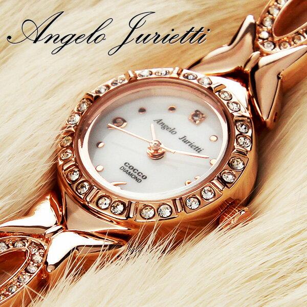 レディースウォッチ 腕時計 アンジェロジュリエッティ 時計 レディース [ 腕時計レディース 腕時計レディース プチプラ 天然ダイヤモンド バタフライ アクセサリー かわいい ピンクゴールド ローズゴールド ]