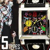 選べる5色!コグ腕時計[COGU時計](COGU腕時計コグ時計)メンズレディースユニセックス/男女兼用腕時計/ブラック/CHS-SKR[おしゃれ革黒色桜カジュアル定番使いやすいおすすめシルバーピンクホワイトレッド]