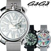 ガガミラノ腕時計[GaGaMILANO時計](GaGaMILANO腕時計ガガミラノ時計)スリム46MMアッチャイオ(SLIM46MMACCIAIO)/メンズ時計GG-5080.3