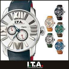 [送料無料]アイティーエー腕時計[I.T.A.時計](I.T.A.腕時計アイティーエー時計)オペラ(Opera)メンズ腕時計/シルバー/SITA-21-00-07[革ベルト/機械式/自動巻/メカニカル/正規品/イタリア/ブランド/ファッション/ブラック]