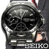 【5年延長保証】 セイコー クロノグラフ 腕時計 逆輸入 海外モデル メンズ [ SEIKO 時計 ]( SND367PC SND363PC SND365PC SND371PC SND309PC )【 新品 丸型 ブラック シルバー クロノ グラフ アナログ ビジネス プレゼント 定番 就活 】