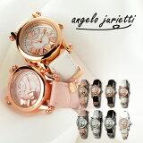 アンジェロジュリエッティ 腕時計 Angelo Jurietti 時計 Angel 腕時計 レディース かわいい プチプラ ピンク ピンクゴールド ローズゴールド おしゃれ 可愛い ブランド 革ベルト レザー バングル 生活 防水 キッズ