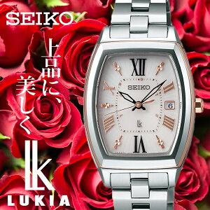 [10月8日販売開始]セイコー腕時計[SEIKO時計](SEIKO腕時計セイコー時計)ルキア(LUKIA)レディース/腕時計/ピンク/SSQW032[メタルベルト/正規品/防水/ソーラー電波修正/シルバー/ローズゴールド/ピンクゴールド][送料無料]