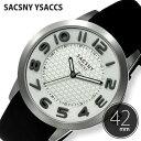 サクスニーイザック 腕時計 SACSNY YSACCS 時計 メンズ レディース SY-15063S-WHGY1 [ ラバー ベルト ブラック 立体インデックス プレゼント ドラマ ]
