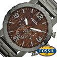 フォッシル 腕時計 メンズ 男性 [ FOSSIL ] フォッシル 時計 [ fossil 腕時計 メンズ ] [NATE] 木目柄/JR1355[人気/ビジネス/防水/クロノグラフ/カレンダー][プレゼント/ギフト]