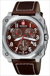 ウェンガー腕時計[WENGER時計](WENGER腕時計ウェンガー時計)エアログラフ(AEROGRAPH)メンズ腕時計/ブラウン/77014[ミリタリー]