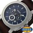 フォッシル 腕時計 メンズ レディース 男女兼用 [ FOSSIL ] フォッシル 時計 [ fossil 腕時計 メンズ レディース ] マシーン MACHINE ブルー FS4793[人気/日付機能/日付表示/メタルベルト 革ベルト ]