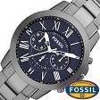 フォッシル 腕時計 メンズ レディース 男女兼用 [ FOSSIL ] フォッシル 時計 [ fossil 腕時計 メンズ レディース ] グラント GRANT ブラック FS4831 [人気/ビジネス/防水/クロノグラフ/カレンダー]