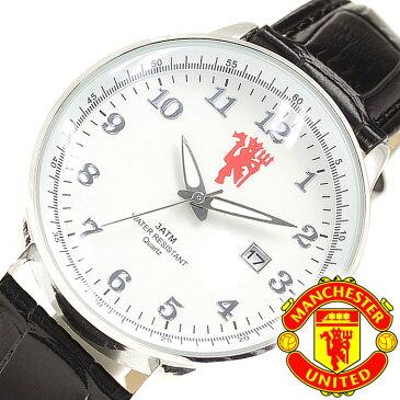 マンチェスターユナイテッド 腕時計 MANCHESTER UNITED 時計 メンズ ホワイト GA3770 [ アナログ サッカー ブラック プレゼント ][ バーゲン ]