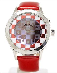 ロマゴデザイン腕時計[ROMAGODESIGN時計](ROMAGODESIGN腕時計ロマゴデザイン時計)ファッションコードシリーズ(Fashioncodeseries)メンズレディースユニセックス/男女兼用腕時計/レッドホワイトシルバー/RM052-0314ST-RDWH[おしゃれ送料無料チェック]