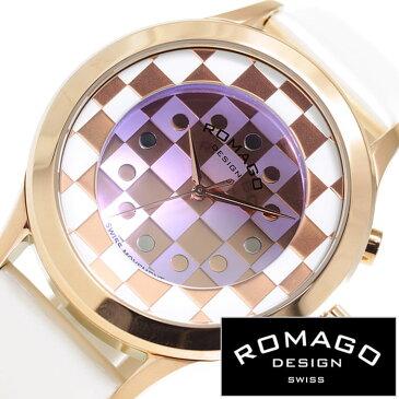 【正規品】 ロマゴデザイン 腕時計 ROMAGO DESIGN 時計 ロマゴ メンズ レディース ピンクゴールド RM052-0314ST-RGWH [ ブランド チェック パールホワイト ]