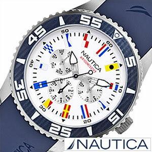 ノーティカ腕時計[NAUTICA時計](NAUTICA腕時計ノーティカ時計)フラッグスポーツアクティブ(NST07SPORTACTIVE)メンズ腕時計/ホワイト/A12627G[送料無料アナログネイビーおしゃれ]