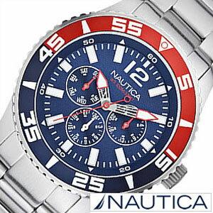 ノーティカ腕時計[NAUTICA時計](NAUTICA腕時計ノーティカ時計)マルチスポーツアクティブ(NST700SPORTACTIVE)メンズ腕時計/ネイビーホワイト/A15653G[送料無料アナログシルバーおしゃれ]