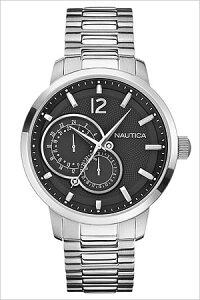 ノーティカ腕時計[NAUTICA時計](NAUTICA腕時計ノーティカ時計)マルチクラシックスポーティドレス(NCT15CLASSICSPORTYDRESS)メンズ腕時計/ブラックホワイト/A18694G[送料無料アナログシルバーおしゃれ]
