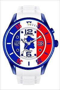 ロマゴデザイン腕時計[ROMAGODESIGN時計]メンズレディースユニセックス/男女兼用腕時計/ブルーホワイトレッド/RM043-0412PL-FR[FIFAワールドカップW杯サッカーおしゃれ送料無料国旗地図レ・ブルー]