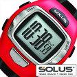【5年延長保証】 ソーラス 腕時計 [ SOLUS 時計 ] レジャー930 Leisure 930 メンズ レディース シルバー レッド ブラック 01-930-007 [ 正規品 スポーツ ダイエット プッシュボタン式 心拍時計 ]【 ランニングウォッチ 】