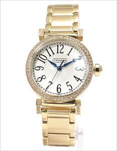 コーチ腕時計[COACH時計](COACH腕時計コーチ時計)マディソン(Madison)レディース腕時計/ホワイトシルバー/CO-14501724[送料無料かわいい人気雑誌掲載ゴールドパールクリスタルキラキラコーチホワイト]