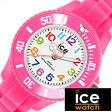 【5年延長保証】【正規品】 アイスウォッチ 腕時計 [ ICE WATCH 時計 ] アイス ミニ ピンク ICE mini メンズ レディース ピンク MNPKMS [ 人気 防水 軽量 スポーツウォッチ スポーツ ]