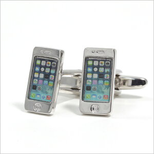 [あす楽] ★新作カフスボタン入荷cufflinksカフスボタン [ iphone6 5s ホワイト apple スマホ ...