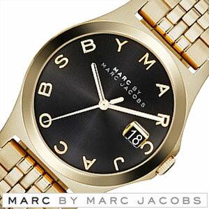マークバイマークジェイコブス腕時計[MARCBYMARCJACOBS時計](MARCBYMARCJACOBS腕時計マークバイマークジェイコブス時計)ザスリム(TheSlim)メンズレディースユニセックス/男女兼用腕時計/ブラック/MBM3315[アナログラージサイズゴールド黒金3針]