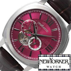 ニューヨーカー腕時計[NEWYORKER時計](NEWYORKER腕時計ニューヨーカー時計)タイムパーソン(Timeperson)メンズ腕時計/レッド/NY003-08[オープンハートトラッドクラシックルイ15世リューズ][送料無料]