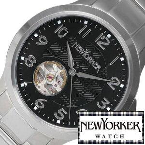 ニューヨーカー腕時計[NEWYORKER時計](NEWYORKER腕時計ニューヨーカー時計)ジャスティス(Justis)メンズ腕時計/ブラック/NY005-03[オープンハートトラッドクラシックルイ15世リューズ][送料無料]