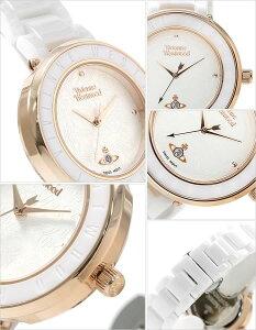 ヴィヴィアンウェストウッド腕時計[VivienneWestwood時計](VivienneWestwood腕時計ヴィヴィアンウェストウッド時計)オーブロンドンセラミック(OrbLondonCeramic)レディース腕時計/ホワイト/VV124WHWH[送料無料アナログセラミックバンドブラウン3針]
