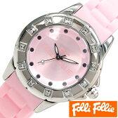 【1725円 セール割引中!】 フォリフォリ 時計 レディース 女性 [ folli follie ] 腕時計 ピンク WF8A024ZPPI [ ジュエリー ストーン 防水 ダイヤ クリスタル シルバー 銀 3針 ]