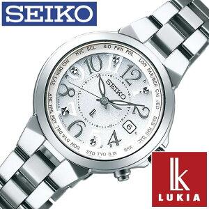 セイコー腕時計[SEIKO時計](SEIKO腕時計セイコー時計)ルキア(LUKIA)レディース腕時計/ホワイト/SSQV001[送料無料アナログソーラー電波時計ラッキーパスポートシリーズシルバー白銀3針1B25]