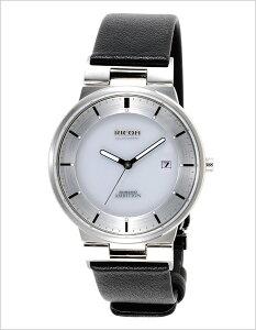 リコー腕時計[RICOH時計](RICOH腕時計リコー時計)シュルードアンビション(SHREWDAMBITION)メンズ腕時計/ホワイト/RICOH-697006-12[ソーラー充電式腕時計送料無料ソーラー/充電式シルバー黒/白/銀3針]