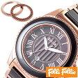 フォリフォリ 時計 レディース 女性 [ folli follie ] 腕時計 チェンジバックル CERAMIC CHANGEABLE ブラウン ブラック WF1R037BDB [ 人気 ピンクゴールド セラミック ]