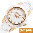 フォリフォリ 時計 レディース 女性 [ folli follie ] 腕時計 ミニセラミック MINI CERAMIC WATCH/ホワイト WF2R028BSS [ピンクゴールド/セラミック/アウトレット]