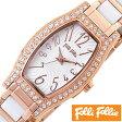 フォリフォリ 時計 レディース 女性 [ folli follie ] 腕時計 デビュタントウォッチ DEBUTANT WATCH/ホワイト WF8B026BPW [ピンクゴールド/セラミック/人気]