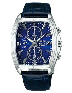 ワイアード腕時計[WIRED時計](WIRED腕時計ワイアード時計)ニュースタンダードモデル(NEWSTANDARDMODEL)メンズ腕時計/ブルー/AGAD056[送料無料アナログ/クロノグラフソーラークロノグラフモデルシルバー銀/青6針V176]