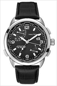 [送料無料]ノーティカ腕時計[NAUTICA時計](NAUTICA腕時計ノーティカ時計)(NWT01)メンズ腕時計/ブラック/NAI19510G[アナログ/クロノグラフ/2015NEWMODEL/orologioシルバー黒/銀6針]