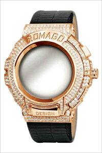 [送料無料]ロマゴデザイン腕時計[ROMAGODESIGN時計](ROMAGODESIGN腕時計ロマゴデザイン時計)トレンドシリーズ(Trendseries)メンズレディース/シルバー/RM025-0256ST-RGBK[アナログクリスタル/ストーンミラーウォッチブラック/ピンクゴールド黒/桃金3針]