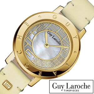 [送料無料]ギラロッシュ腕時計[GuyLaroche時計](GuyLaroche腕時計ギラロッシュ時計)レディース腕時計/マザーオブパール/L1006-03[アナログTIMEPIECESレディースウォッチベージュ/ゴールド金/白2針]