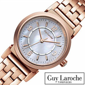 [送料無料]ギラロッシュ腕時計[GuyLaroche時計](GuyLaroche腕時計ギラロッシュ時計)レディース腕時計/マザーオブパール/L2005-03[アナログTIMEPIECESレディースウォッチピンクゴールド桃金/白3針]