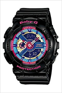 [送料無料]カシオ腕時計[CASIO時計](CASIO腕時計カシオ時計)ベイビージー(BABY-G)レディース腕時計/ブルー/CASIO-BA-112-1AJF[アナデジ/デジタル/液晶/防水/ブラック/ピンク]