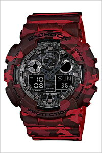 [送料無料]カシオ腕時計[CASIO時計](CASIO腕時計カシオ時計)ジーショック(G-SHOCK)メンズ腕時計/ブラック/CASIOW-GA-100CM-4A[アナデジ/デジタル/液晶/防水/レッド/迷彩/カモフラージュ/グレー]