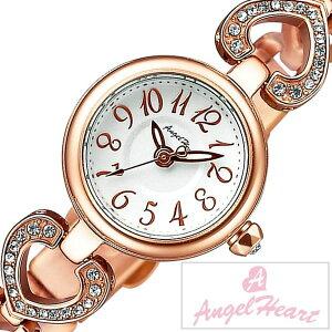 [送料無料]エンジェルハート腕時計[AngelHeart時計](AngelHeart腕時計エンジェルハート時計)ピンキーハート(PinkyHeart)レディース腕時計/シルバー/PH19BRPG[アナログ/クリスタル/ストーン/ローズ/ピンクゴールド/ホワイト/ハート/ブレスウォッチ]