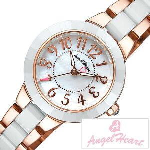[送料無料]エンジェルハート腕時計[AngelHeart時計](AngelHeart腕時計エンジェルハート時計)ラブスポーツ(LoveSports)レディース腕時計/ホワイト/WL27CPG[アナログ/クリスタル/ストーン/ローズ/ピンクゴールド/ハート/シルバー]