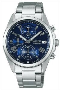 [送料無料]ワイアード腕時計[WIRED時計](WIRED腕時計ワイアード時計)メンズ腕時計/ブルー/AGAT405[メタルベルト/正規品/クロノグラフ/防水/SEIKO/ペアモデル/シルバー/ネイビー/VD57]