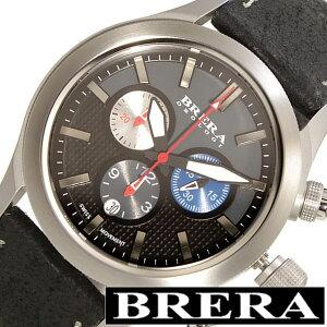 [送料無料]ブレラオロロジ腕時計[BRERAOROLOGI時計](BRERAOROLOGI腕時計ブレラオロロジ時計)エテルノクロノ(EternoChrono)メンズ腕時計/グレー/BRET3C4301[革ベルト/クロノグラフ/防水/おしゃれ/ブランド/ブラック/シルバー/ブルー/レッド]